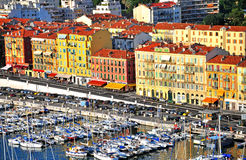 Panorama of Nice, France. NICE, FRANCE - JUNE 18: Panorama of Nice city center and harbor on June 17, 2011. Nice is a fifth largest and one of the most popular Stock Images