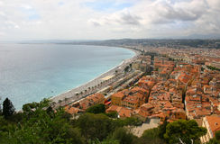 Panorama - Nice - Frankrijk Royalty-vrije Stock Fotografie