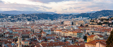 Panorama of Nice town, French Riviera Royalty Free Stock Image