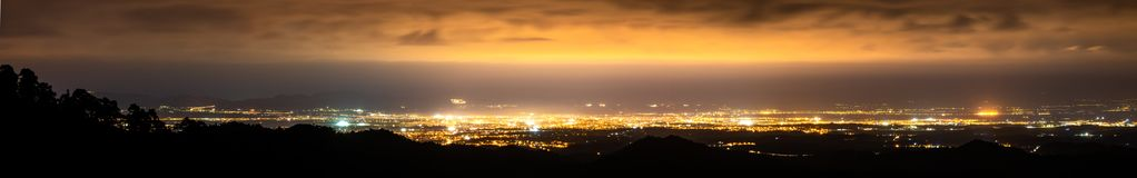 Panorama of Nicosia from Machairas with Pentadaktilos on the back royalty free stock photos