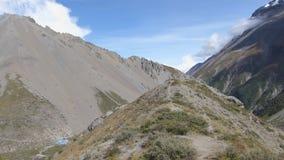 Panorama niedrigen Lagers Tilicho stock video