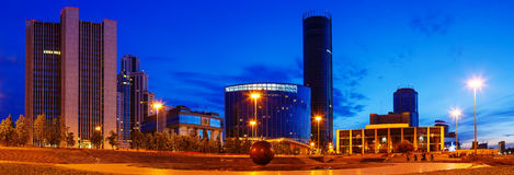 Panorama night center of Ekaterinburg summer heat. Panorama night center of the Ekaterinburg summer heat Stock Photos