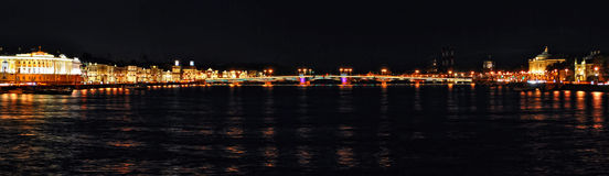 Panorama of night city Royalty Free Stock Photo