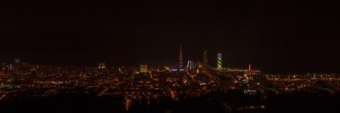Panorama night city Batumi, Adjara, Georgia royalty free stock photos