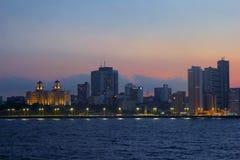 Panorama of night Havana, Cuba. Night panorama of Havana, Cuba - night view Stock Photos