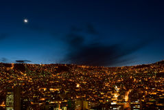 Panorama of night La Paz Stock Photo