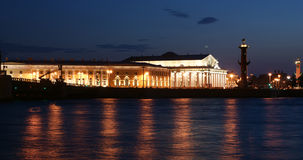 Panorama of the night of Saint-Petersburg, Russia Royalty Free Stock Photos