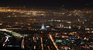 Panorama night Torino Stock Photography