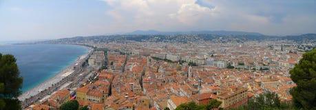 Panorama Niza de /France/ foto de archivo libre de regalías