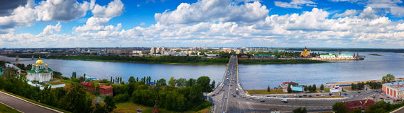 Panorama of Nizhny Novgorod Royalty Free Stock Photography
