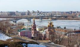 Panorama of Nizhny Novgorod royalty free stock photos