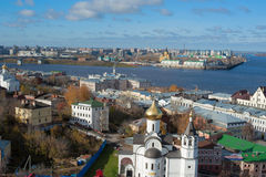 Panorama of Nizhny Novgorod Stock Photo