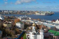 Panorama of Nizhny Novgorod Stock Photo