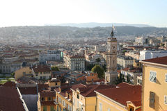 Panorama Nizza della Francia Fotografia Stock