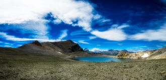 Panorama of nlue lake Stock Images