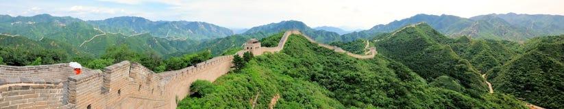 Panorama no.1 de la Gran Muralla imagen de archivo libre de regalías