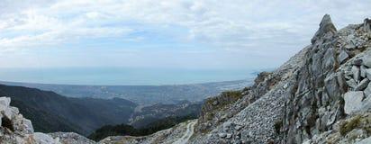 Panorama no montagna de Alta Imagem de Stock Royalty Free