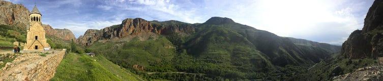 Panorama- Noravanq kloster Arkivfoton