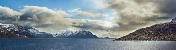 Panorama Nordkapp Tromson lizenzfreie stockfotos