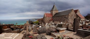 Panorama Normandia Fotografie Stock Libere da Diritti