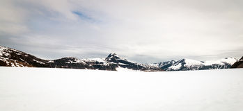 Panorama of Norris glacier in Alaska Stock Images