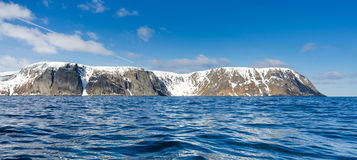 Panorama of North Cape cliff Royalty Free Stock Image