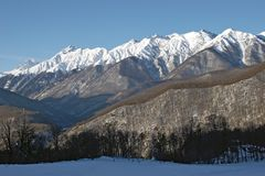 Panorama of North Caucasus Stock Image