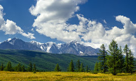 Panorama of North-Chuya mountains, Altai, Russia Royalty Free Stock Photo