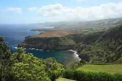 Panorama of the north coast of Sao Miguel, Azores Stock Images