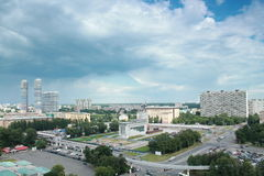 Panorama of the north-east of Moscow Royalty Free Stock Photography