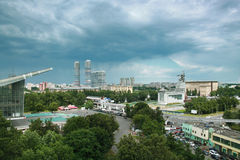 Panorama of the north-east of Moscow Royalty Free Stock Photo