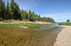 Panorama of North river protected. Royalty Free Stock Image