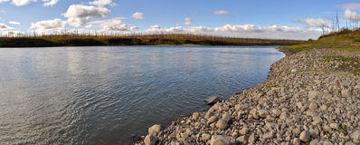 Panorama of North river. Royalty Free Stock Photography
