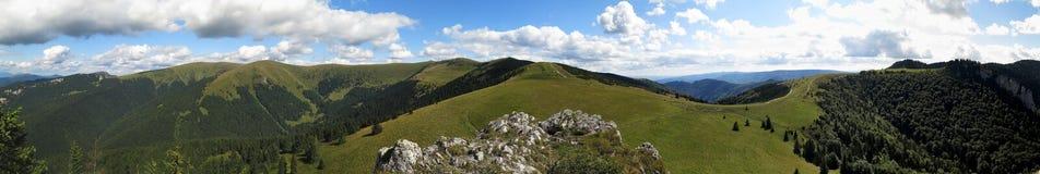 Panorama northern viev from Kralova skala in Velka Fatra mountains in Slovakia. Panorama northern viev from Kralova skala in Velka Fatra mountains stock photo