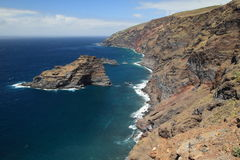 Panorama of northwest coast of La Palma, C Stock Images