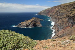 Panorama of northwest coast of La Palma, C Royalty Free Stock Photography