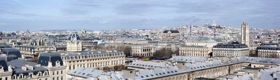 Panorama from Notre-Dame Royalty Free Stock Photos