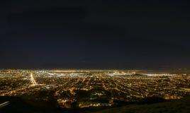 Panorama notturno di San Francisco Immagini Stock Libere da Diritti