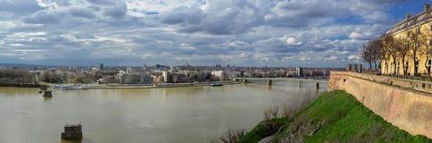 Panorama Novi Sad Imagen de archivo libre de regalías