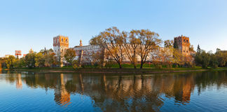 Panorama of Novodevichiy convent in Moscow Russia Stock Photography