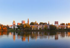Panorama of Novodevichiy convent in Moscow Russia Royalty Free Stock Photos