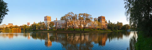 Panorama of Novodevichiy convent in Moscow Russia Royalty Free Stock Photography