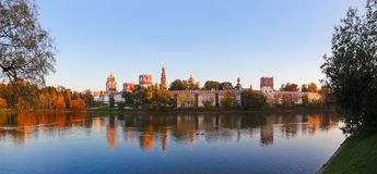 Panorama of Novodevichiy convent in Moscow Russia Stock Image