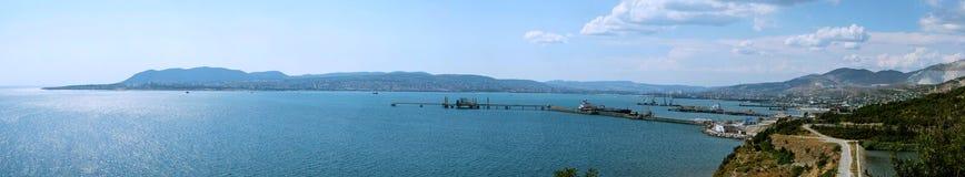 Panorama  of Novorossiysk. Panorama of the port city of Novorossiysk Stock Images