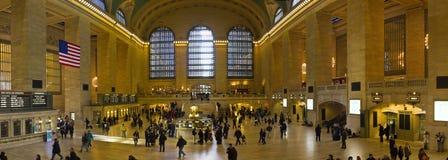 Panorama Nowy Jork centrali Uroczysta stacja w Manhattan Obrazy Stock