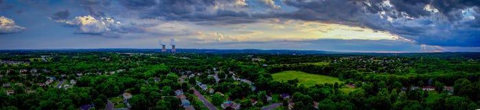 Panorama nuclear - quintilla Pennsylvania imágenes de archivo libres de regalías