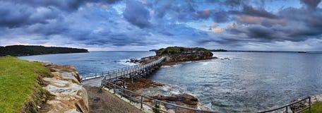 Panorama nudo di alba dell'oceano Immagine Stock Libera da Diritti