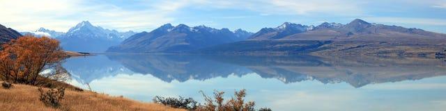 Panorama Nueva Zelandia del cocinero de la montaña Imágenes de archivo libres de regalías