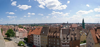 Panorama of Nuremberg Royalty Free Stock Images