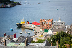 Panorama of Oban, a resort town within the Argyll and Bute council area of Scotland. Oban is a resort town within the Argyll and Bute council area of Scotland Stock Photos